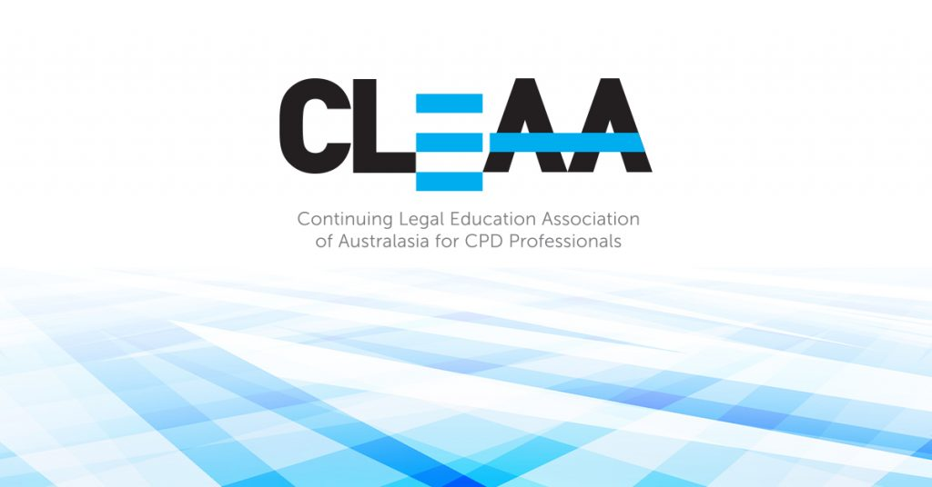 CLEAA logo on abstract background