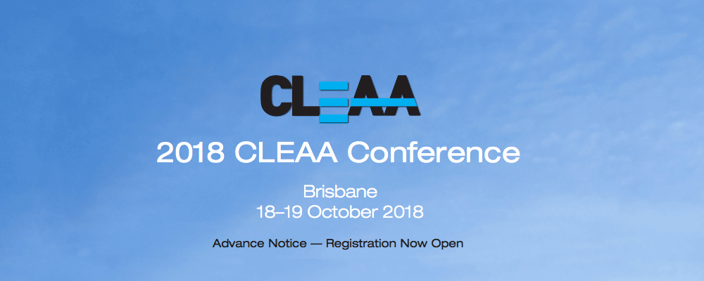CLEAA 2018 Conference Brisbane